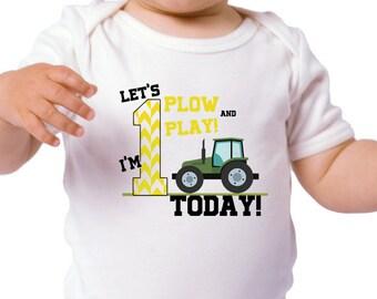 Birthday Boy Tractor Shirt - Personalized Birthday Boy Tractor T Shirt - Any Age - Customized Birthday Boy Shirt