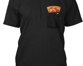 Pizza In My Pocket - Hanes Tagless Tee - Black