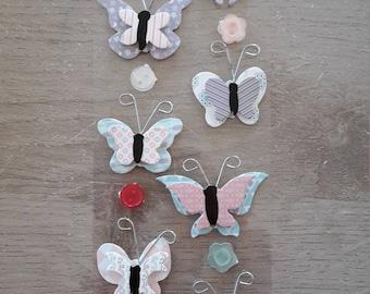 Stickers decals 3D butterflies