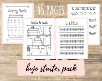 Bullet Journal Starter Pack (46 pages)
