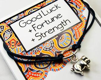 Good luck Bracelet - Pig Charm Bracelet - Good luck - Fortune - Strength -Friendship Bracelet - INT028