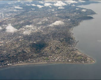 Poster, Many Sizes Available; Aerial View Of Alki Point 2