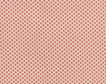 Petite Prints French General Pearl Faded Red Spiny Star 13698-19 Fabric BTY