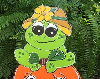 Halloween - Yard stakes  - Frog  -  Yard decorations
