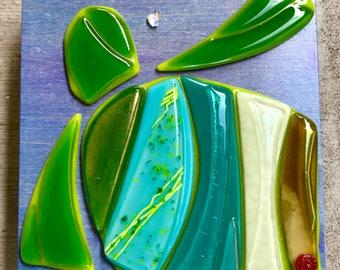 Honu (Sea Turtle) by Shelly Batha Island Fused Glass