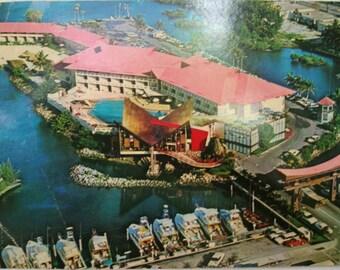 Vintage USA postcard.Miami Beach.Castways Resort Motel.Florida.Collectible.Vintage Miami. USA ads.Ephemera.Castaways.Rare.Special gift.