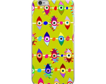 Colorful Eyes iPhone Case