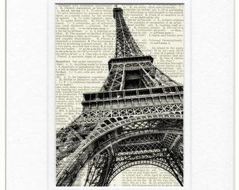 Eiffel Tower dictionary print