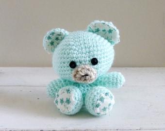 Tottles the Teddy Bear, Cute Stuffed Animals, Crochet Teddy Bear