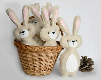 Personalized felt bunny toy, Easter Bunny, Stuffed bunny toy,  Stuffed rabbit toy, Bunny nursery decor , woodland nursery decor, Baby Gift