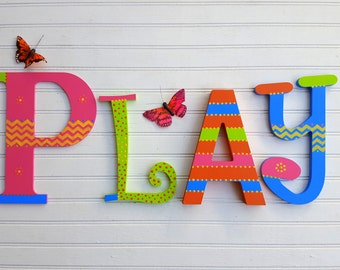 Word Wall Letters - Numbers - Play Room Letters -  Kids Room Letters - Reading Room - Kids Wall Art - Play Sign - Read Sign