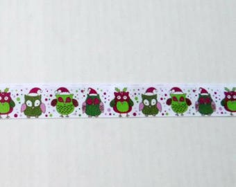 Owl Christmas Ribbon - 1 Yard