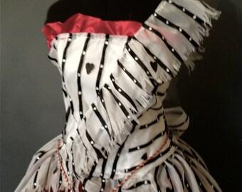 Alice in Wonderland Red Um Dress Recreation Costume