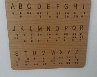 Braille Wall Panel Key - Escape Rooms Prop - Braille Key - Braille Alphabet