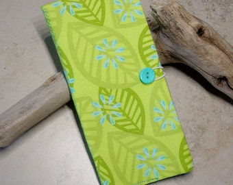 Credit Card Wallet,Loyalty Card Wallet, Business Card Case, Organizer, Gift Idea,Chartreuse Green Fabric Wallet, Business Card Wallet