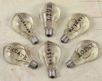 Prima Junk Yard Findings Collection Ingvild Bolme Trinkets Metal Embellishments Typo Bulbs 2