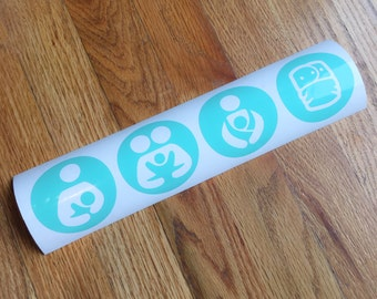 Breastfeeding - Cloth Diapering - Babywearing - Co Sleeping Decal - Crunchy Mom - Baby - Toddler - Mom life - Tula -