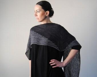 NOCTILIO shawl knitting pattern PDF