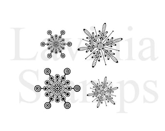 Lavinia Stamps Clear Rubber Stamp - Zen Snowflakes