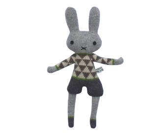 Mini Knitted Lambswool Boy Bunny