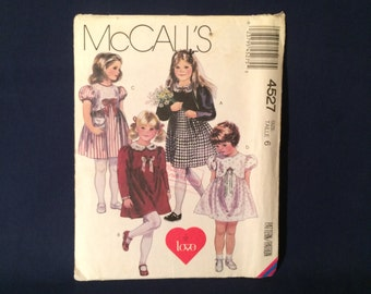 McCall's 4527 Toddler's & Children's Dress Sewing Pattern Size 6 Factory Folded