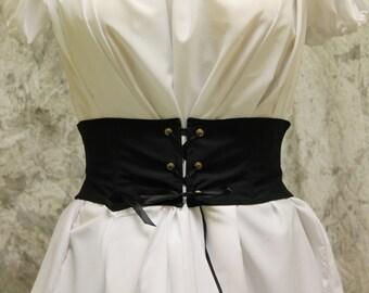 Black Renaissance Costume-Halloween Costume-Medieval Skirt-LARP-Ren Fair-Steampunk-SCA-Adult Costume-Fantasy Skirt-Item #259