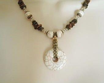Magnesite Necklace, boho jewelry gypsy jewelry bohemian jewelry hippie jewelry hipster new age necklace boho necklace bohemian necklace