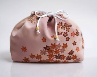 Lingerie bag made from Japanese kimono silk, laundry bag, underwear pouch, travel accessory