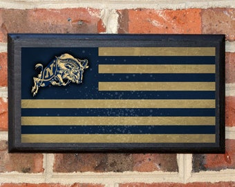 US Navy Flag Midshipmen Get Em Goat Wall Art Sign Plaque Gift Present Home Decor Vintage Style USNA Sailor Naval Academy Football Classic