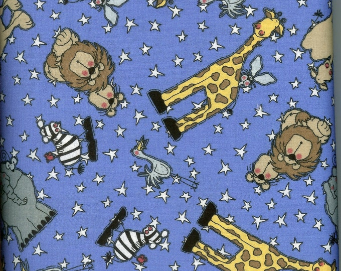 Going to the Circus 100% cotton fabric- sold by ( multiple lengths)  #6