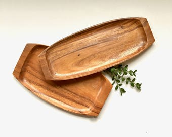 Vintage Trays | Wood Serving Trays | Serveware, Kitchenware, Tableware | Boho Home Decor