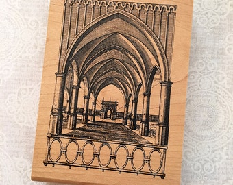 "Arches Architecture ""Illuminata""  Stamp by Inkadinkadoo  - Like New Used Rubber Stamp"