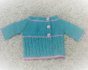 TOP DOWN Knitting PATTERN Cardigan Jacket - Selena a Seamless Top Down Asymmetrical Cardigan (6 Sizes, 0 - 7 yrs)