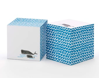 Whales Sticky Note Cube