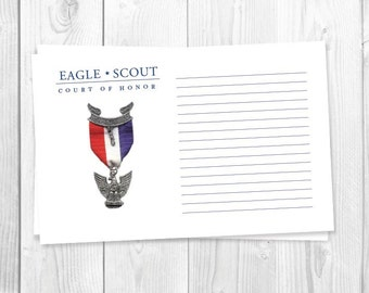 Red, White, Blue, Eagle Scout Guest Book / Digital Download