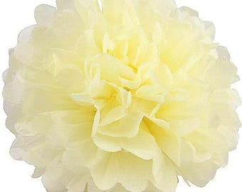 Deluxe Creamy Ivory Tissue Pom Poms 4, 6, 8 or 10 inch /Weddings/Showers/Birthdays/Parties