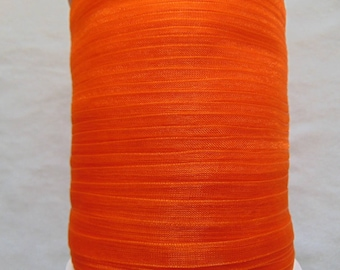 Dark orange organza Ribbon, width 06 mm (O-024)