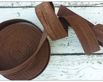 5/8 BROWN Fold Over Elastic 5 or 10 Yards