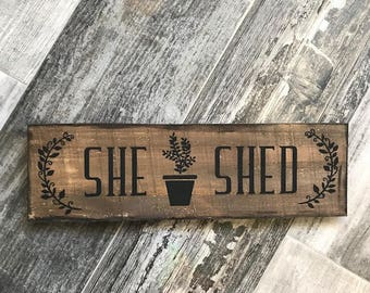 she shed sign, gift for her, gifts for her, shed sign, man cave sign, gift for him, gifts for him,craft room sign, workspace sign