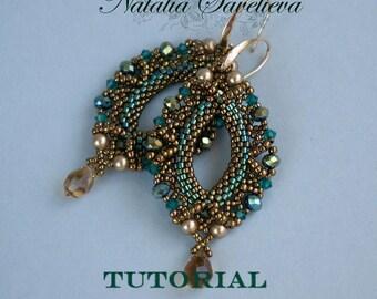 Beading Tutorial, Emerald Earrings, Jewelry Tutorial, Bead Pattern PDF, Instant Download.