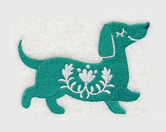 Swedish Dachshund Tea Towel | Dog Lover Gift | Embroidered Kitchen Towel | Personalized Kitchen | Embroidered Towel | Dog Tea Towel