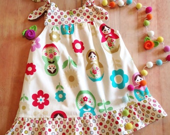 Forget Me Knot MATRYOSHKA Russian Nesting doll jumper-tunic style top