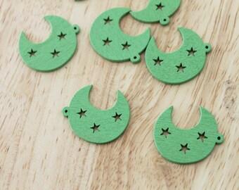 Green Moon pendant
