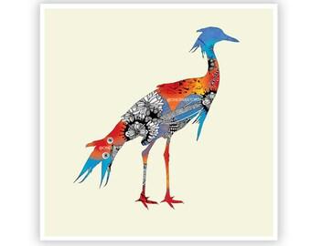 Blue Bird by Iveta Abolina -  Floral Illustration Print