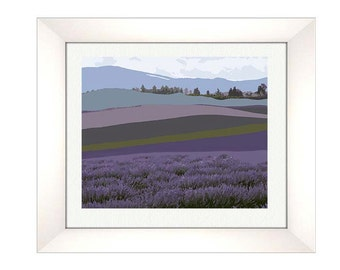Purple Mountain Print, Abstract Landscape Print, Mid Century Modern, Modern Abstract Art, Landscape Wall Art-