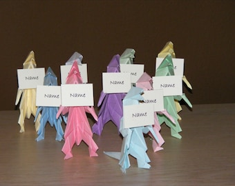 Dinosaur party, Origami Dino Party, Set of 10 Dinosaur Origami, Dinosaur party name table, Dino party Name table, T-rex party