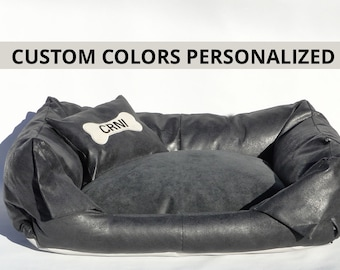 Dog Bed GABY custom colors personalized/free name emroidery