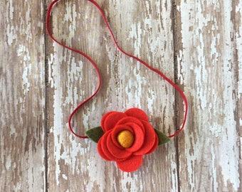 felt flower headband, newborn flower headband, flower headband, baby headband, baby flower headband, toddler flower headband