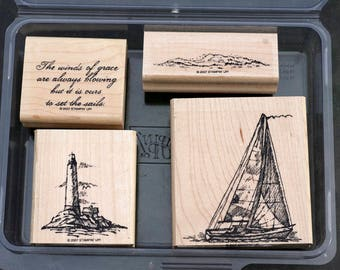 Stampin' Up Rubber Stamp Set, Winds of Grace 2007, Sailing Stamps