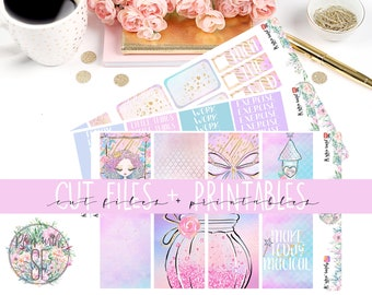 Fairy Printable Planner Stickers/Weekly kit/for Happy Planne